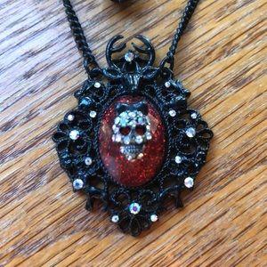 Betsey Johnson Skull Cameo Necklace
